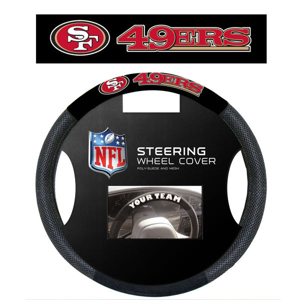 San Fransisco 49ers Poly Suede Steering Wheel Cover - Sports Nut Emporium