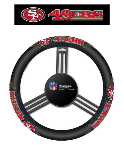 San Fransisco 49ers Massage Grip Steering Wheel Cover - Sports Nut Emporium