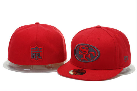 San Fransisco 49ers NEW ERA NFL POP GRAY BASIC 59FIFTY CAP RED - Sports Nut Emporium