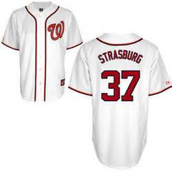 Stephen Strasburg Washington Nationals #37 Stitched White MLB Jersey - Sports Nut Emporium