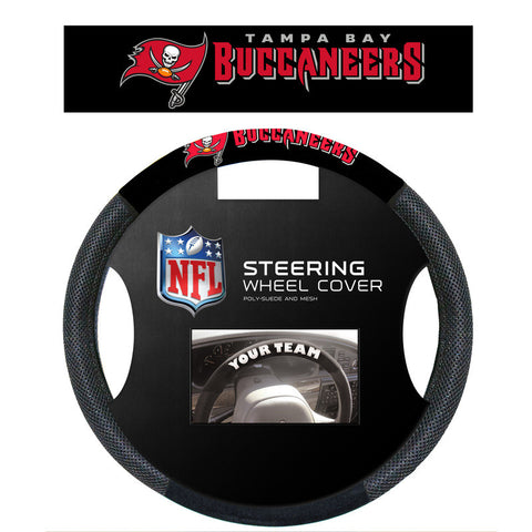 Tampa Bay Buccaneers Poly Suede Steering Wheel Cover - Sports Nut Emporium