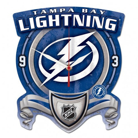 Tampa Bay Lightning High Def Plaque Style wall Clock - Sports Nut Emporium