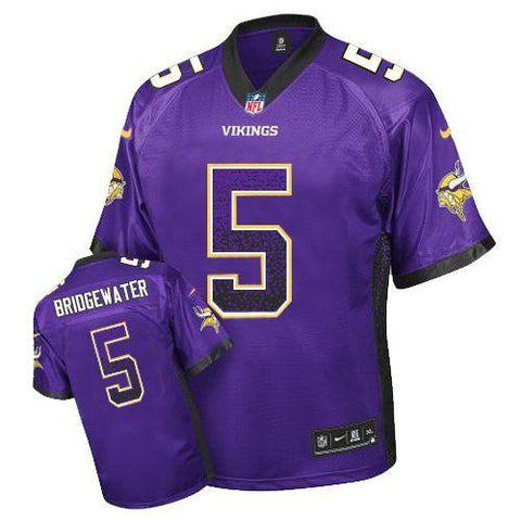 Teddy Bridgewater Purple  Men's Stitched NFL Elite Drift Fashion Jersey - Sports Nut Emporium