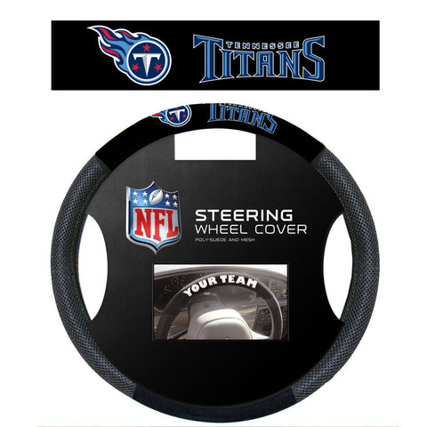Tennessee Titans poly Suede Steering Wheel Cover - Sports Nut Emporium