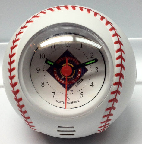 Texas Rangers Baseball Travel Alarm Clock - Sports Nut Emporium