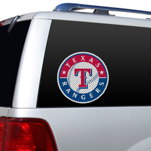 Texas Rangers Large Window Film - Sports Nut Emporium