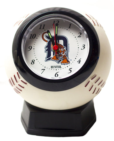 Detroit Tigers baseball shaped alarm clock - Sports Nut Emporium