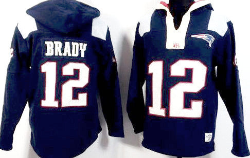 Tom Brady New England Patriots Navy Blue Player Winning Method Pullover Hoodie - Sports Nut Emporium