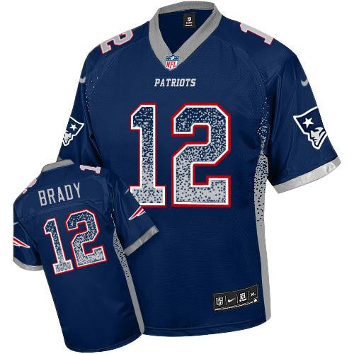 Tom Brady Navy Blue New England Patriots  Men's  NFL Elite Drift Fashion Jersey - Sports Nut Emporium