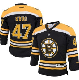 Torey Krug Black Boston Bruins Home Jersey - Sports Nut Emporium