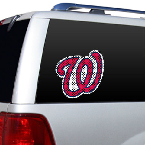 Washington Nationals Large Window Film - Sports Nut Emporium