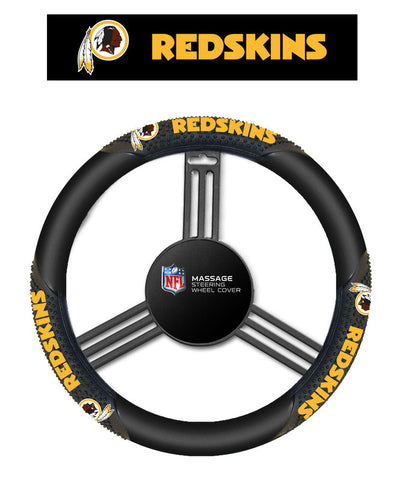 Washington Redskins Massage Grip Steering Wheel Cover - Sports Nut Emporium