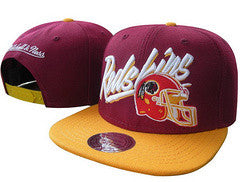 Washington Redskins Flat Bill  Adjustable Snapback Hat - Sports Nut Emporium