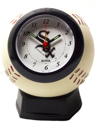 Chicago White Sox baseball shaped alarm clock - Sports Nut Emporium