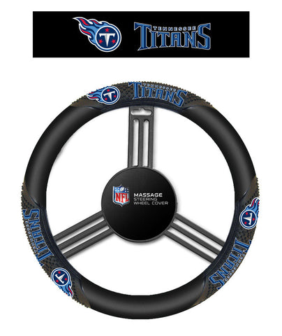 Tennessee Titans Massage Grip Steering Wheel Cover - Sports Nut Emporium