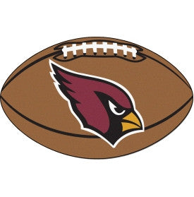 Arizona Cardinals football shaped rug - Sports Nut Emporium