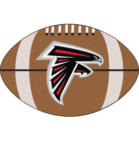 Atlanta Falcons football shaped mat - Sports Nut Emporium