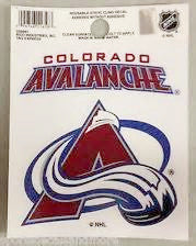 Colorado Avalanche static cling - Sports Nut Emporium