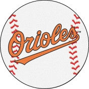 Baltimore Orioles baseball floor mat - Sports Nut Emporium