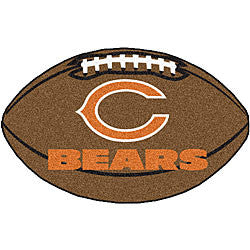 Chicago Bears football shaped mat - Sports Nut Emporium