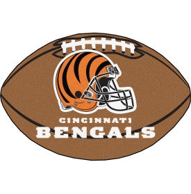 Cincinnati Bengals football shaped mat - Sports Nut Emporium