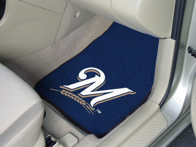 Milwaukee Brewers carpet car mat - Sports Nut Emporium