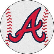 Atlanta Braves baseball floor mat - Sports Nut Emporium