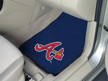 Atlanta Braves carpet car mat - Sports Nut Emporium