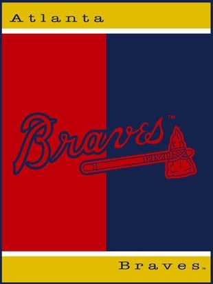 Atlanta Braves all star blanket / throw - Sports Nut Emporium