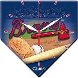 Atlanta Braves Home plate shape  wall clock - Sports Nut Emporium