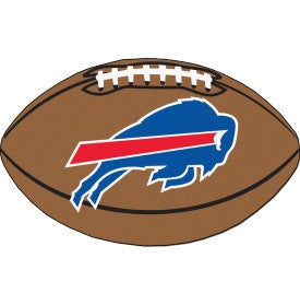 Buffalo Bills football shaped mat - Sports Nut Emporium