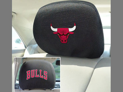 Chicago Bulls head rest cover - Sports Nut Emporium