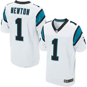 Cam Newton  Nike Elite NFL football jersey (white) - Sports Nut Emporium