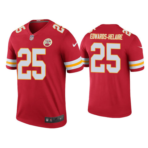 Clyde Edwards Helaire Kansas City Chiefs  Mens Red jersey