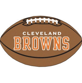 Cleveland Browns football shaped mat - Sports Nut Emporium