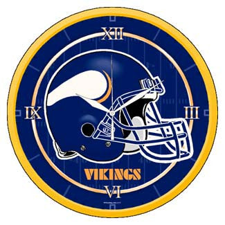 Minnesota Vikings wall clock - Sports Nut Emporium