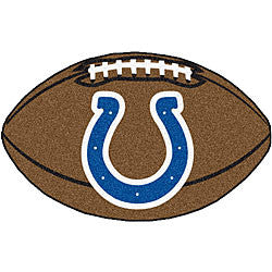 Indianapolis Colts football shaped mat - Sports Nut Emporium