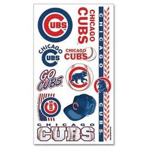 Chicago Cubs temporary tattoos - Sports Nut Emporium