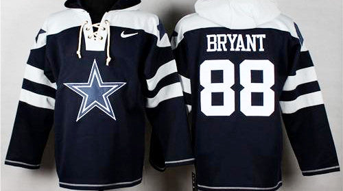 Dez Bryant Navy Blue  Star Player Pullover  Hoodie - Sports Nut Emporium