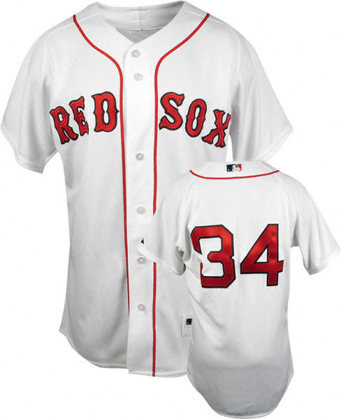 David Ortiz  Boston Red Sox white  stitched jersey - Sports Nut Emporium