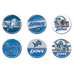 Detroit Lions 6 pack buttons - Sports Nut Emporium