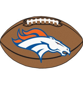 Denver Broncos football shaped mat - Sports Nut Emporium