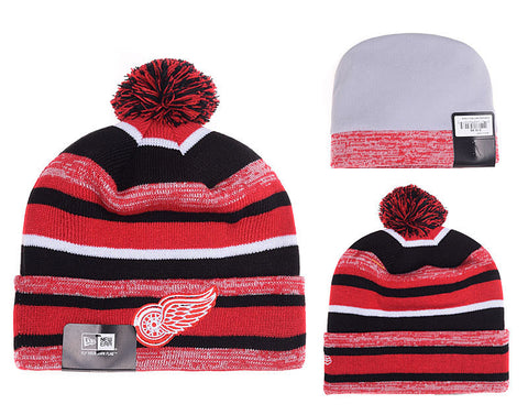 Detroit Red Wings Logo Stitched Knit Beanies- (01) - Sports Nut Emporium