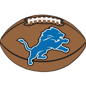 Detroit Lions football shaped mat - Sports Nut Emporium