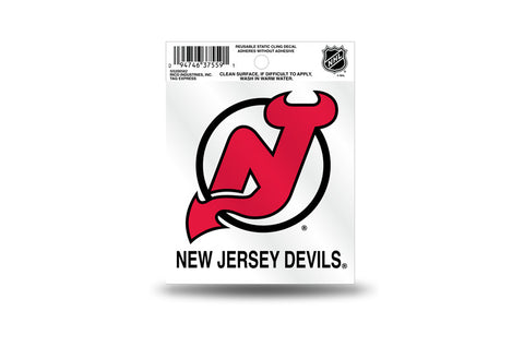 New Jersey Devils static cling - Sports Nut Emporium