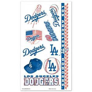 Los Angles Dodgers temporary tattoos - Sports Nut Emporium