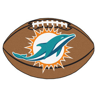 Miami Dolphins football shaped mat - Sports Nut Emporium