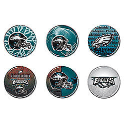 Philadelphia Eagles 6 Pack buttons - Sports Nut Emporium