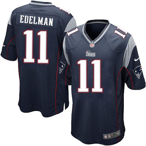 Julian Edelman #11 New England Patriots NFL Nike Elite jersey (blue) - Sports Nut Emporium