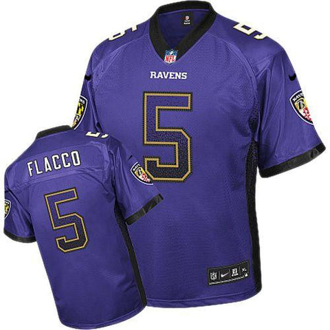Joe Flacco Stitched NFL Elite Drift Fashion Jersey - Sports Nut Emporium